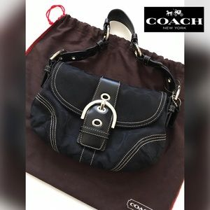 COACH Soho Braided Sig #6171 Canvas Leather Bag